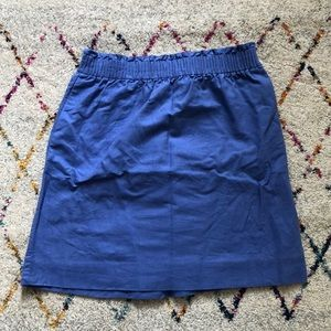 J Crew mini ruched skirt